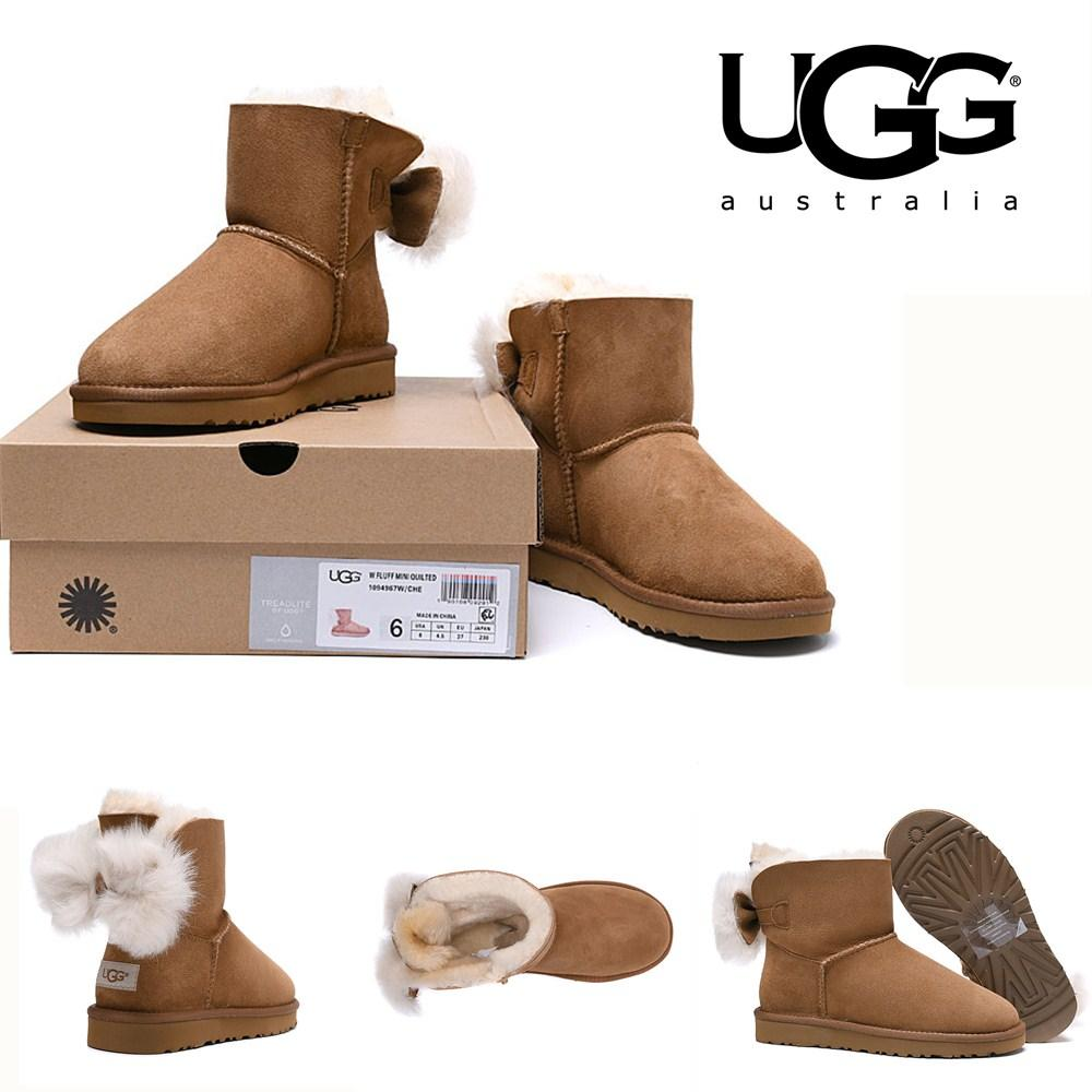 ee342bc4577 Uggsw Fluff Bow Mini 1094967 Australia Classic Snow Boots Women Ladies  5825 Waterproof Winter Warm Ankle Boots Luxury Shoeslvprada Leather ...