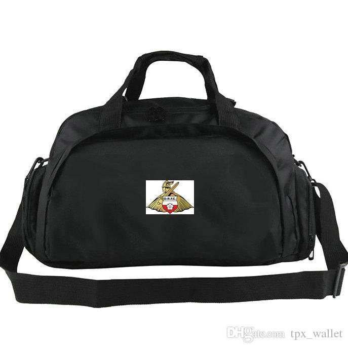 Doncaster Rovers Duffel Tasche FC Donny Club Tasche Fußball Fans Rucksack Übung Gepäck Soccer Sport Schulter Duffle Outdoor Sling Pack