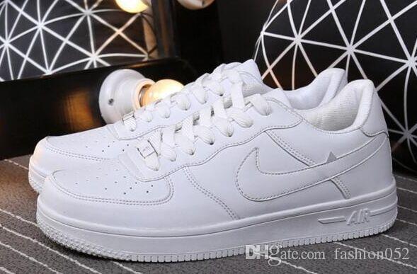 Hommes Femmes Haute Qualité Un 1 Chaussures Décontractées Basse Taille Tous Blanc Noir Couleur Chaussures Décontractées Taille Nous 5.5-9.5