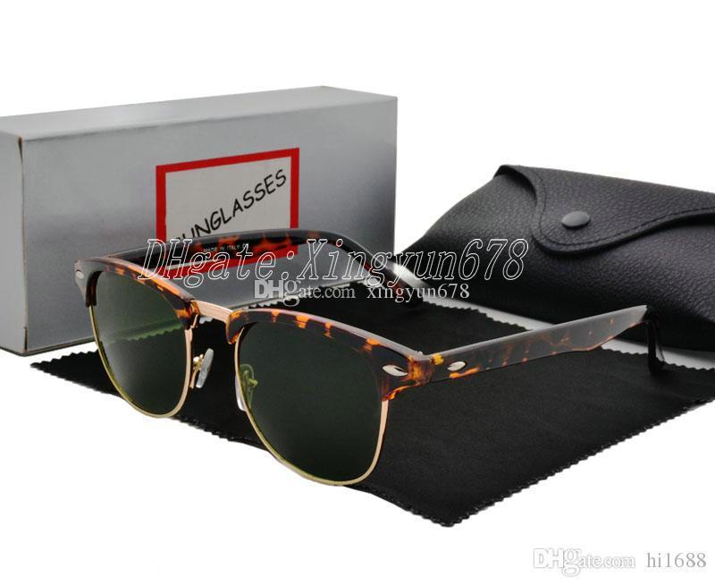 Мода оригинальные дизайнерские металлические очки бренда солнцезащитные очки коробка UV400 женщины солнцезащитные очки солнцезащитные очки объектив унисекс с шарниром и чехлыми мужчинами Leqir