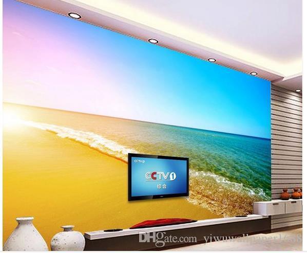Летний стиль фон стены 3D ванная комната пол обои фреска стикер стены
