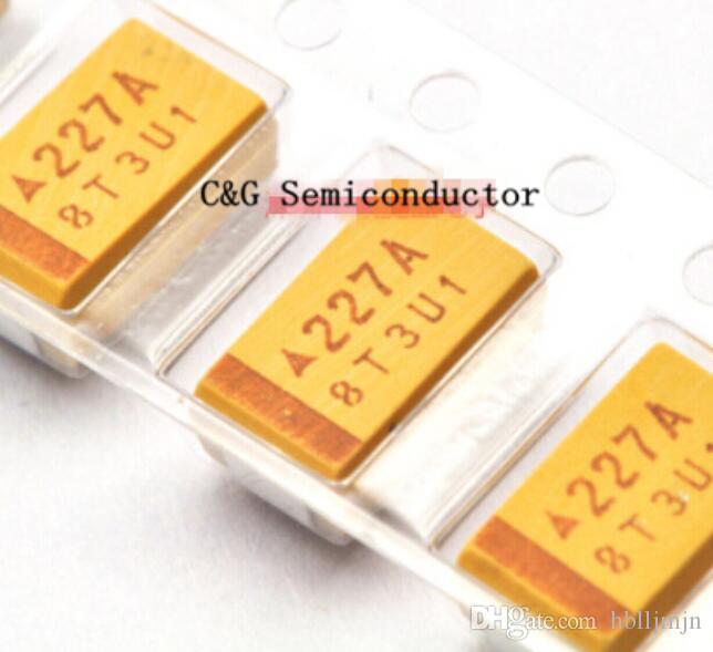 50PCS 220UF 10V D tipo 227 SMD condensador de tantalio