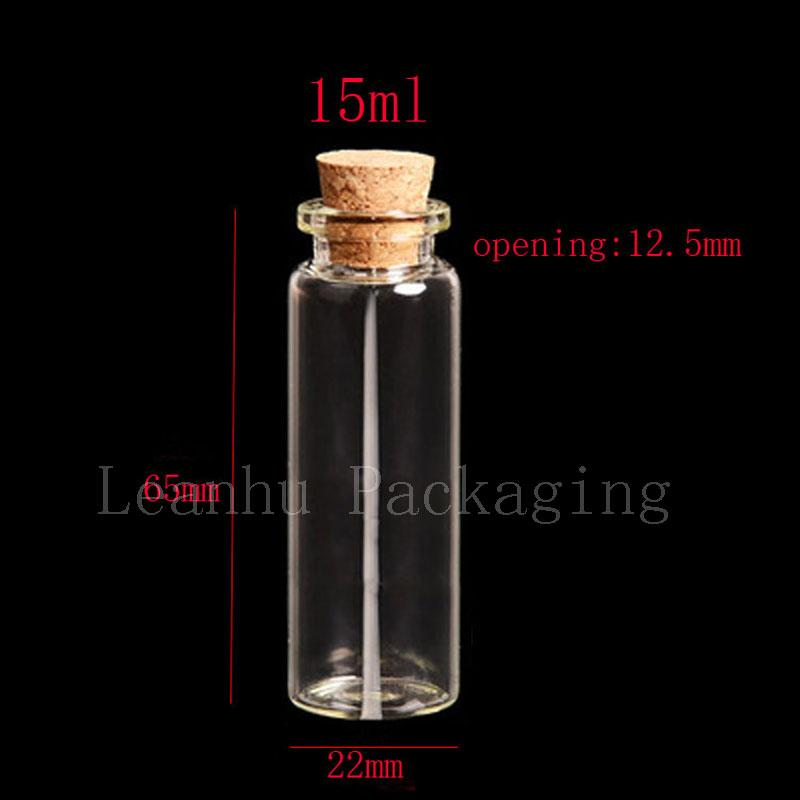 15ml X50 corked glass tube, 1/2oz clear empty glass bottle with wooden cork,15cc corked stopper vials, wishing mini glass bottle