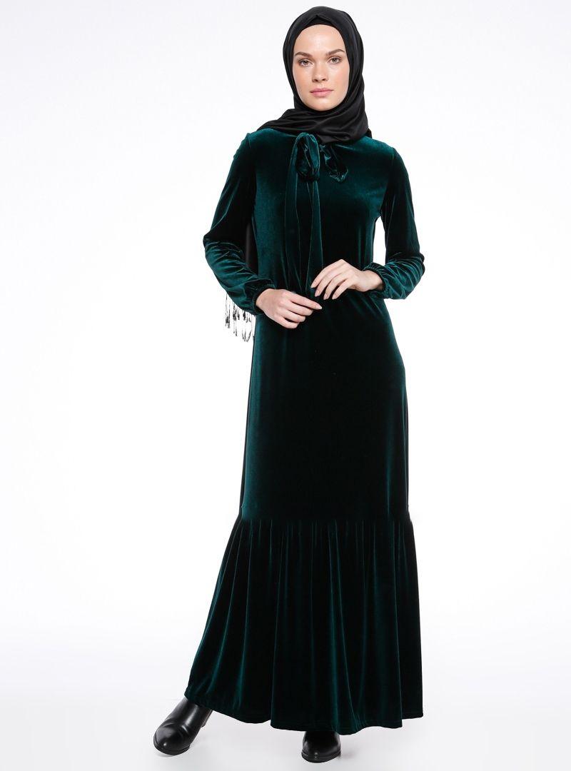 2019 Muslim Women Long Sleeved Velvet Abaya Dress Plus Size Women Winter  Maxi Dress M XL Islamic Robes From Thefashionstore, $20.1   DHgate.Com