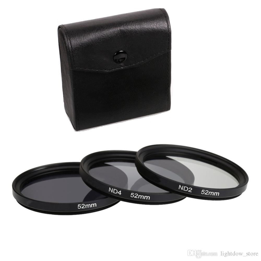 3 in 1 Gray ND2 ND4 ND8 Lens Filter Kit Set 49mm 52mm 55mm 58mm 62mm 67mm 72mm 77mm for Canon Nikon Camera
