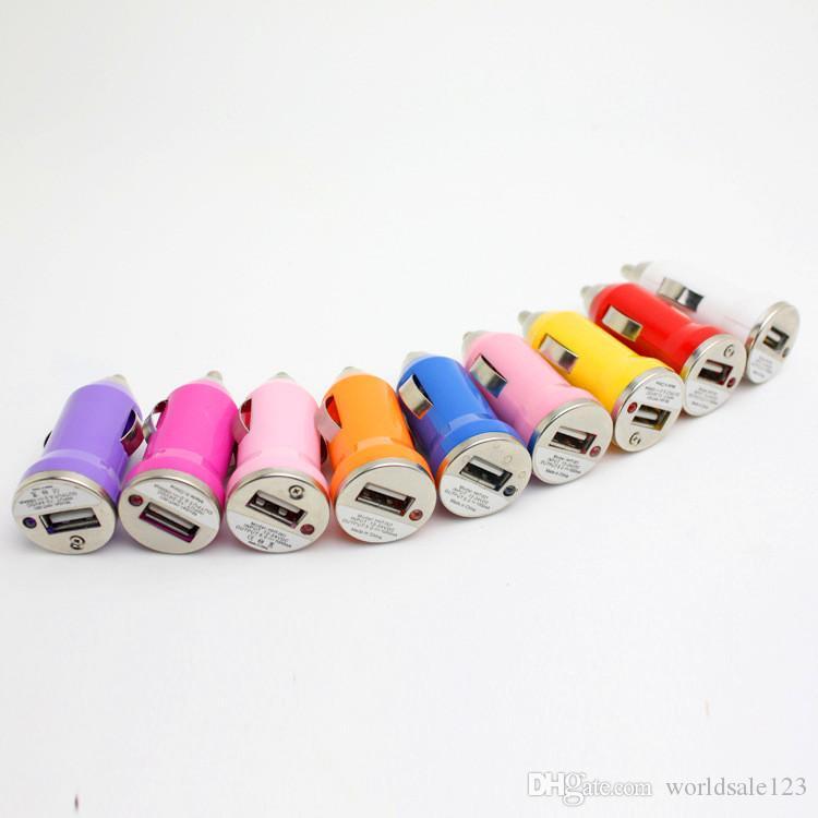 Bullet Universal Mini chargeur de voiture Adaptateur chargeur USB pour iPhone iPod USB Adaptateurs de charge des chargeurs de téléphones intelligents Samsung s10