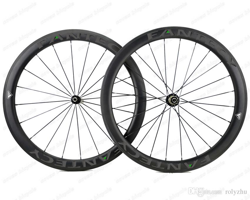 FANTECY!Hot sale 700C 50mm depth road bike Full carbon wheels 25mm width Clincher/Tubular road bicycle carbon wheelset with Powerway R51 hub