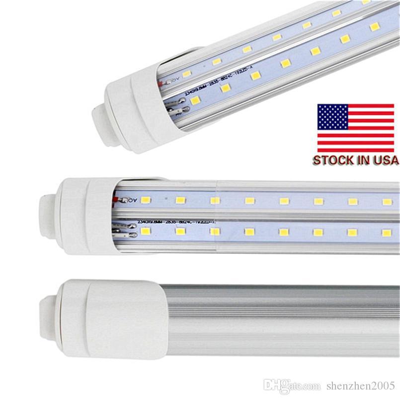 25pcs 96 'V는 T8 8피트 2,400mm R17D LED 72W 형광등 램프 튜브 냉각기 도어 듀얼 로우 CE UL led 튜브 모양의