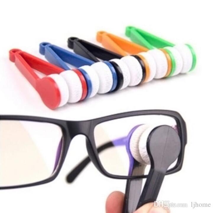 50 Stücke Mix Farben zwei-side Sonnenbrille Pinsel Brillen Mikrofaser Brille Reiniger Pinsel Reinigungswerkzeug Zufällige Gläser Reiben Reiniger