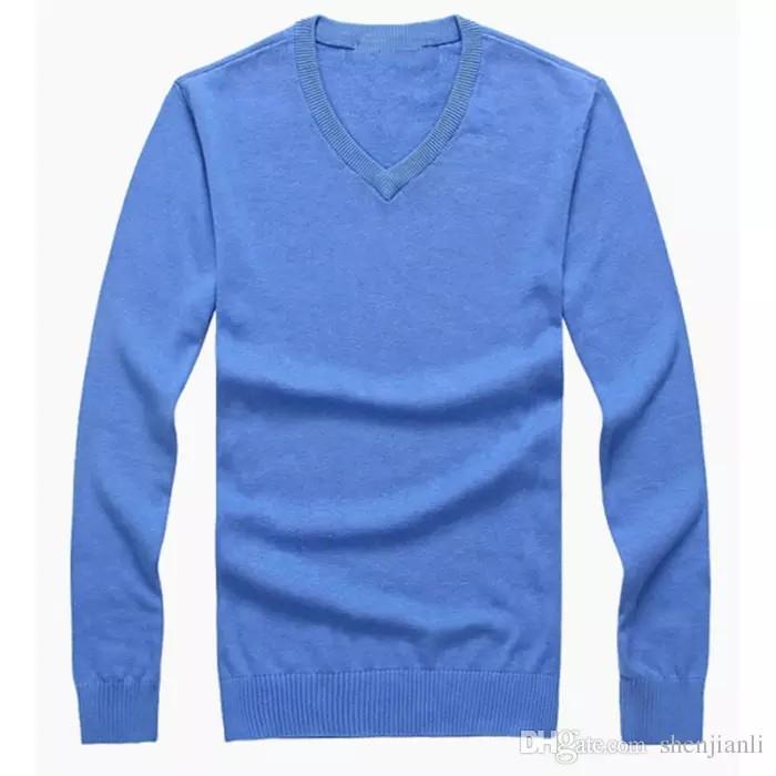 Autunno Maglioni Pullover Cotone New Winter casual scollo a V maglione maglione da uomo 100% di