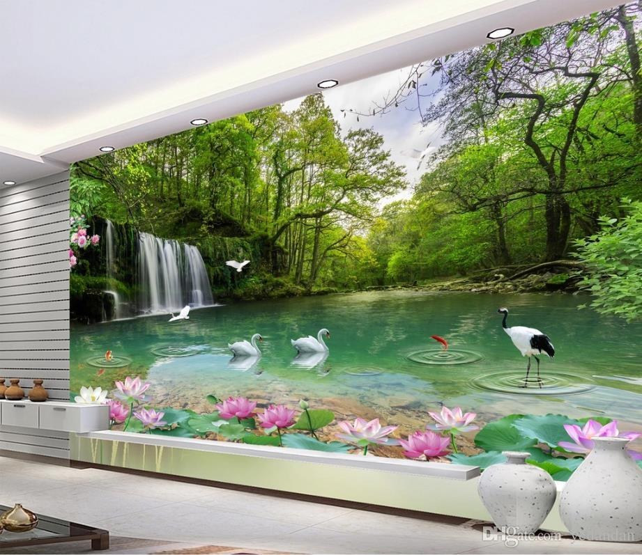 Photo Wallpaper Customized Natural Scenery Wallpaper For Walls 3 D Living Room 3d Background Wall European Mural Desktop Wallpapers Free Desktop