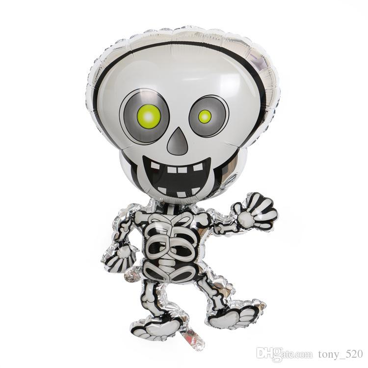 Cartoon Dancing Skeletons halloween foil balloons skull cheap Halloween Party decoration balloon kids Helium globos inflatable toys