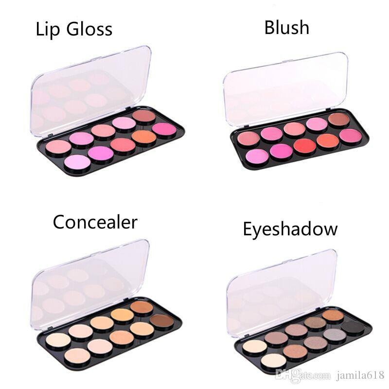 Venta al por mayor NO Lable maquillaje belleza cosméticos cara ahumado sombra de ojos corrector rubor lápiz labial brillo de labios paleta maquillaje paleta personalizado 2018