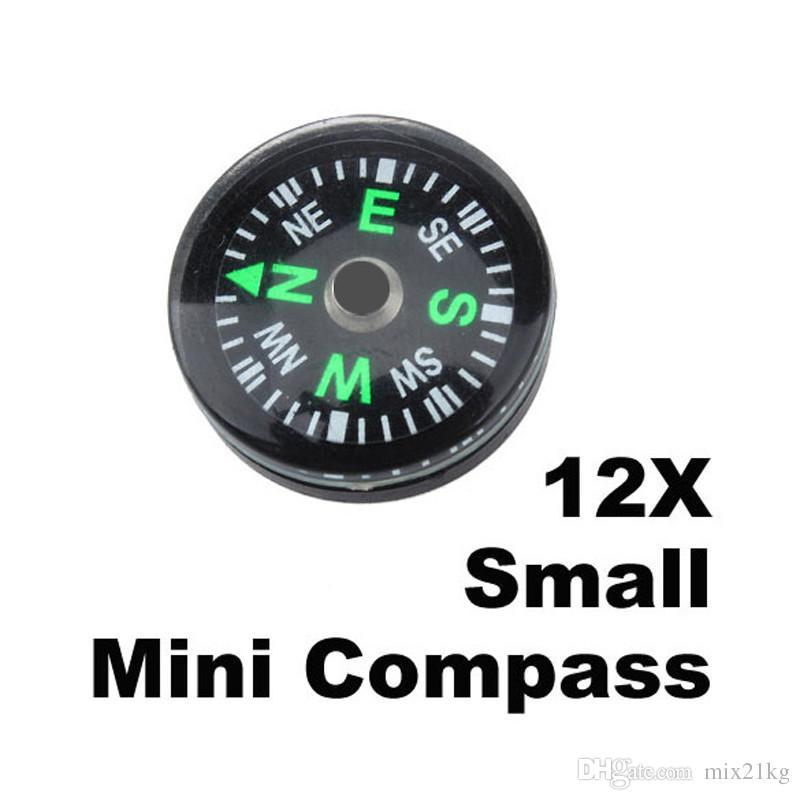 Nuovo 12 pezzi / set 20mm campeggio esterna escursionismo viaggi piccoli mini bussole vendita calda