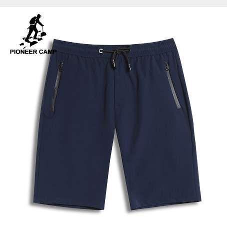 Pioneer Camp Nowe Szybkie Suszenie Szorty Mężczyźni Odzież Casual Solid Męskie Spodenki Letnie Bermuda Quality Krótkie spodnie ADK801114