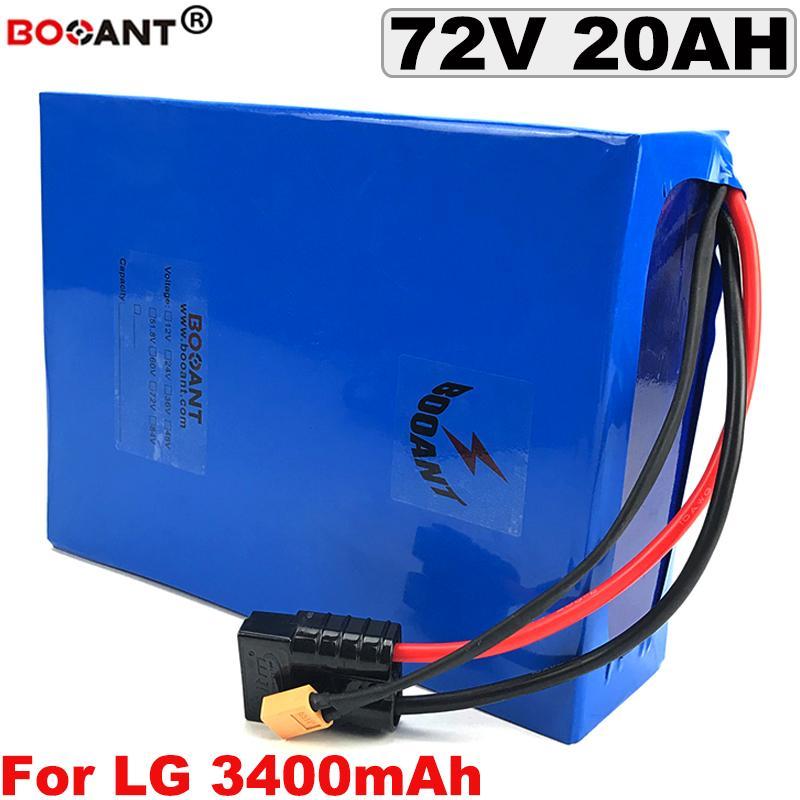 Блок батарей лития E-велосипеда 72V для первоначально клетки 72V 20AH LG 18650 для батареи велосипеда Bafang BBSHD 1500W электрической с заряжателем 5A