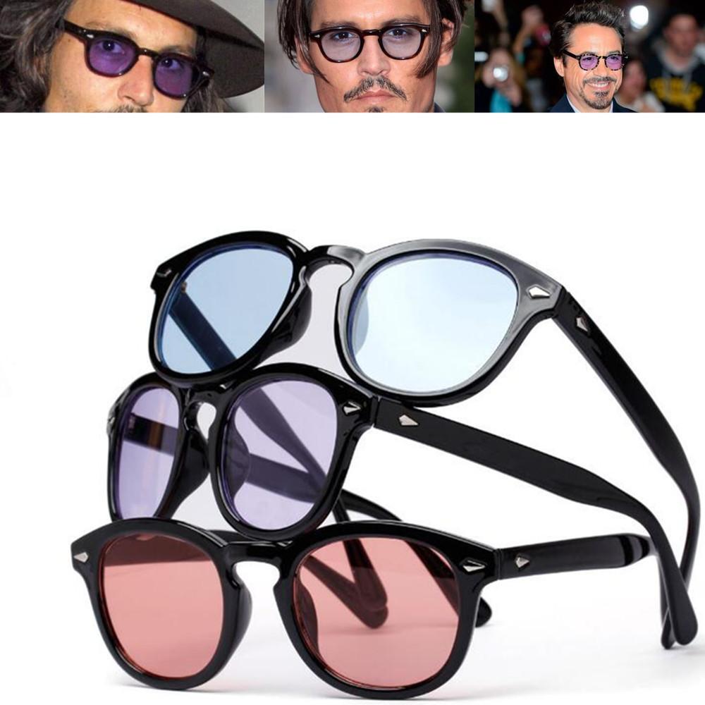 Vintage Johnny Depp Robert Downey Jr lunettes de soleil mode rétro pleine jante hommes lunettes de soleil Rx capable
