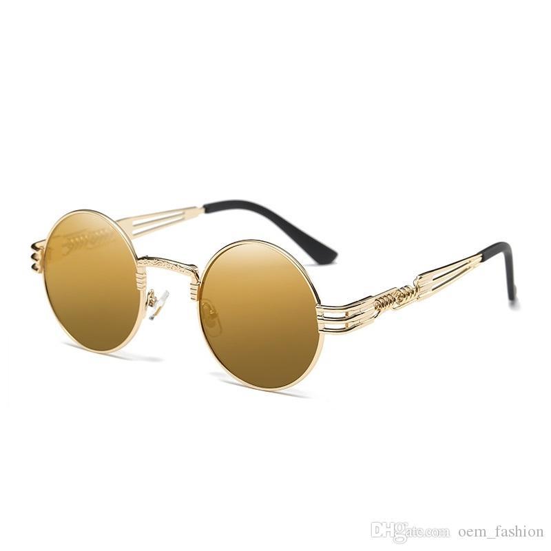 Vidano homens redondos mulheres frete grátis vintage óculos de sol UV400 óculos retro óculos ópticos óculos de sol steampunk moda txgcj