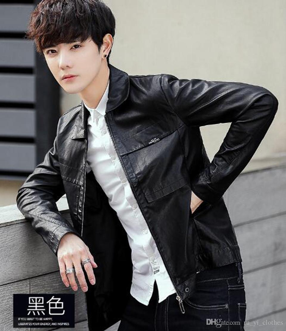 Осень и зима мода Европа Соединенные Штаты Америки новый новый body-slimming trend бутик мужская молния отворотом досуг мыть пальто M-3XL