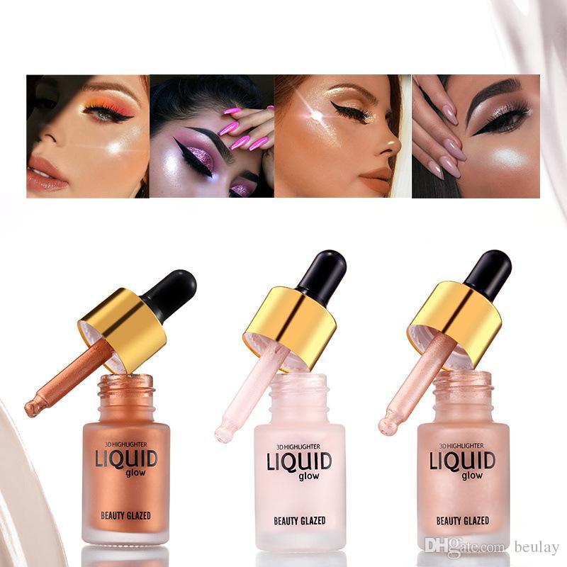 Beauty Glazed Liquid Glow 3D Highlighter 15ml Pearl Bronze Concealer Cream School Students Makeup Free Shipping