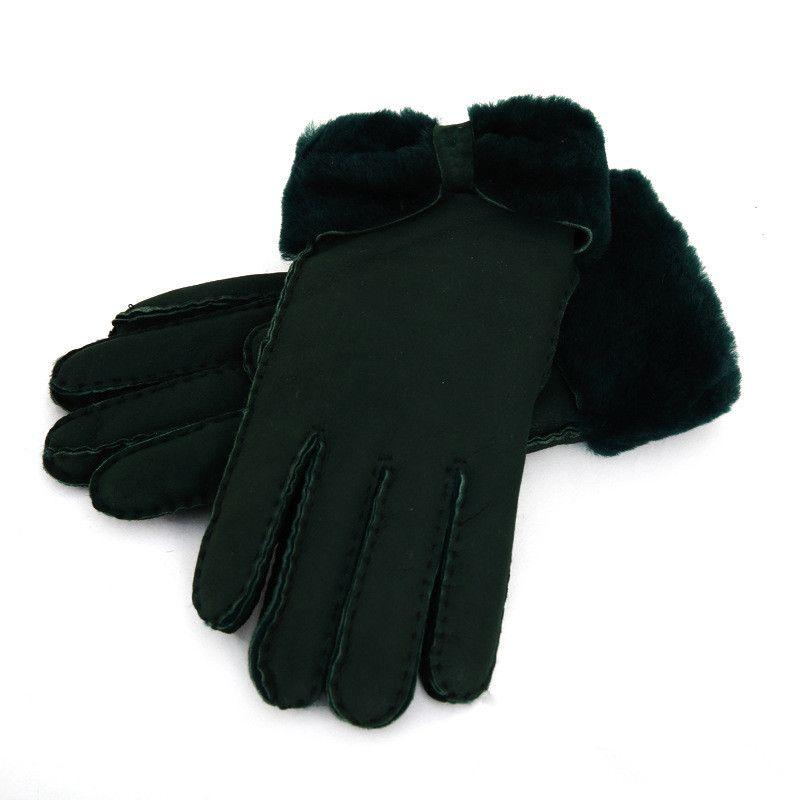 теплые зимние женские кожаные перчатки настоящие шерстяные перчатки женщины 100% гарантия качества
