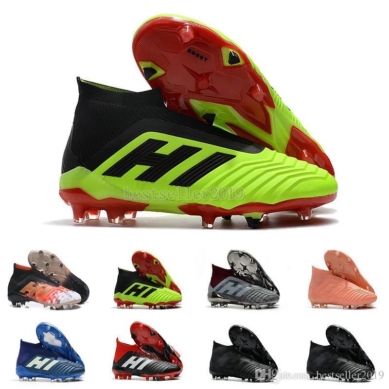 2019 Chaussures de football pour hommes Predator 18+ 18.1 FG Paul Pogba Chaussures de football pour chaussures de football Mania Accelerator