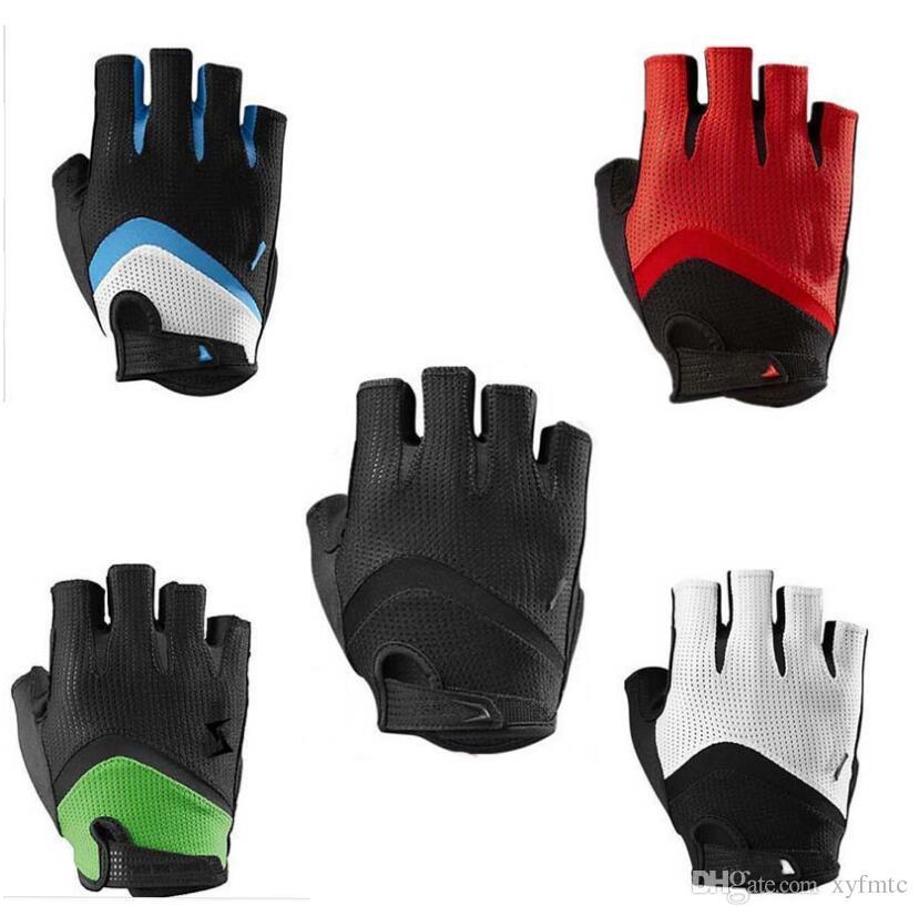 Leather Half Finger Cycling Gloves Bike Bicycle Sport Short Fingerless Gloves