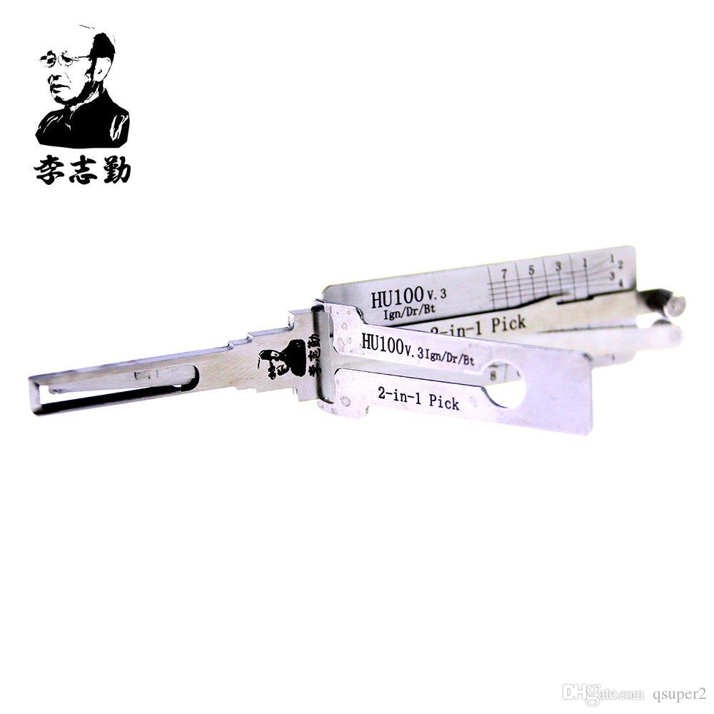 Lishi HU100 2 in 1 lock pick and decoder for Opel,Buick,Cadillac,chevrolet car