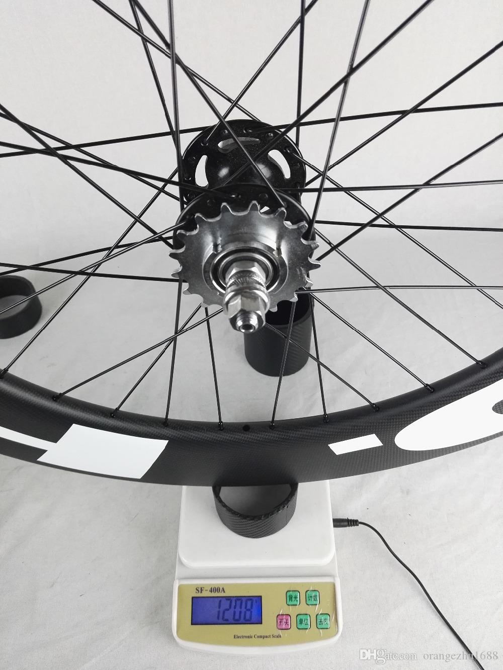 Free Shipping!!hed Carbon Wheels 88mm Clincher tubular track Bike Carbon Wheel 700C 23mm width track Bike Fixed Gear