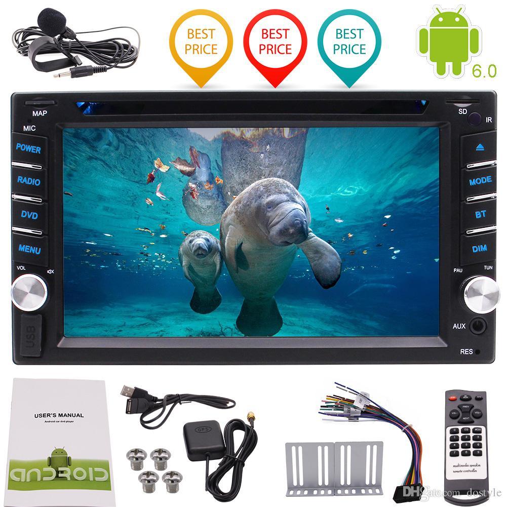 6.2 '' Radio de coche 1080P Duplicación de video Wifi USB / SD Quad Core Android6.0 Reproductor de DVD para auto Doble Din para auto Estéreo Navegación GPS