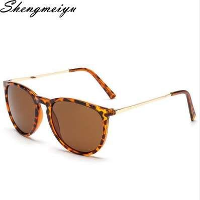 Gafas de sol redondas masculinas retros Mujeres Hombres Diseñador de la marca Gafas de sol para las mujeres Gafas de sol espejo de aleación Ray Ladies Oculos De Sol