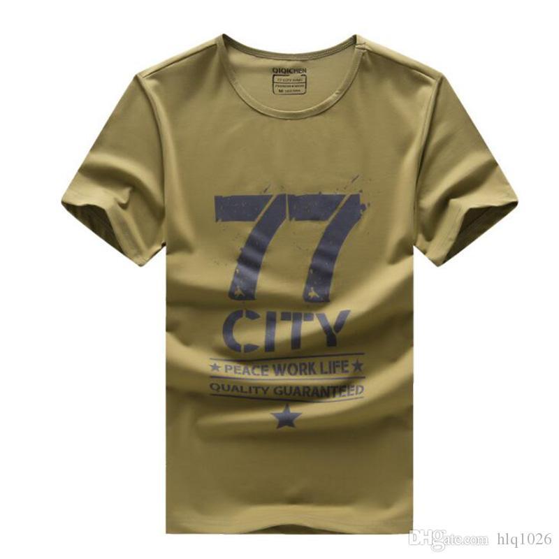 Summer Mens City T Shirt Men Star Luźna Casual Camouflage Cotton T-Shirt O Neck Tshirts dla Mężczyzn