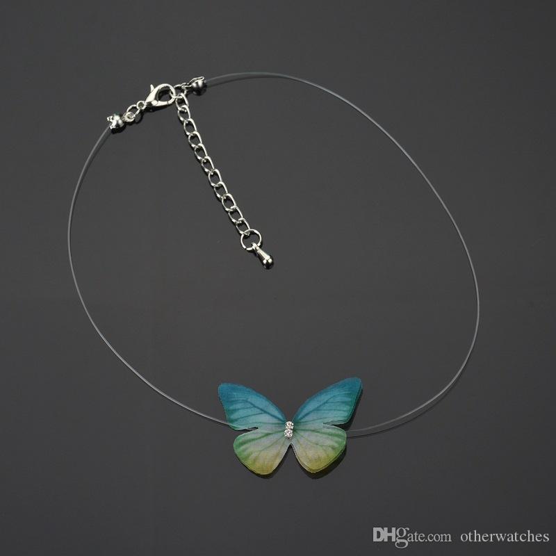 Бабочка невидимая леска Ожерелья