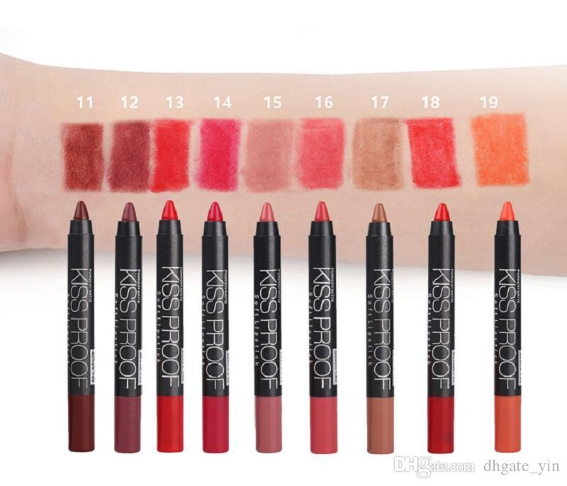 Menow KISS PROOF Sexy Beauty Waterproof Lasting Fade Lipstick + Pen sharpener