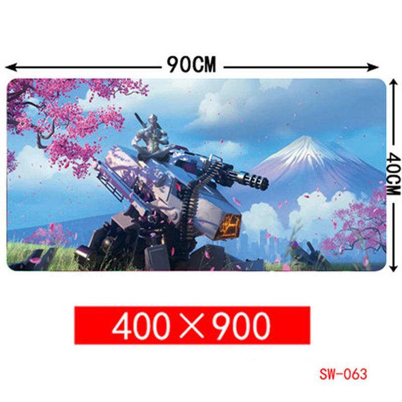 대형 900 * 400 * 3mm 후지 벚꽃 고무 속도 게임 마우스 패드 데스크탑 컴퓨터 랩톱 매트 게임