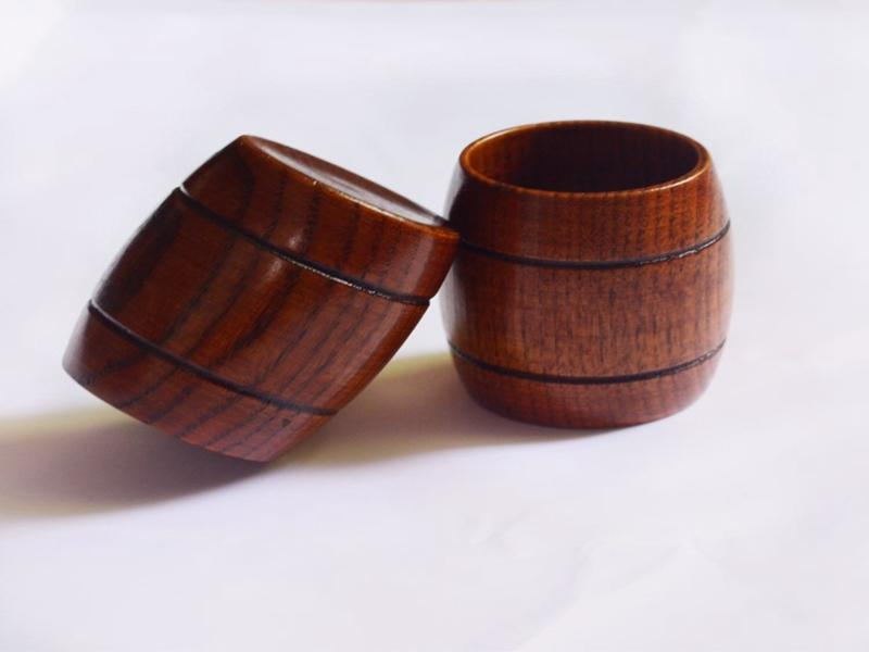20pcs/lot 130ML Natural Wood Cup Wooden Cup Breakfast Beer Milk Drinkware Green Tea Cup B7213
