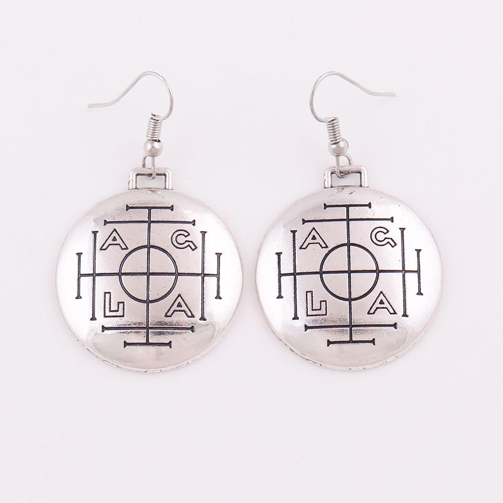 Medieval Money Talisman Wealth Prosperity Amulet Religion Wiccan Men's Pewter Charm Pendant Earring Jewelry Drop Shipping