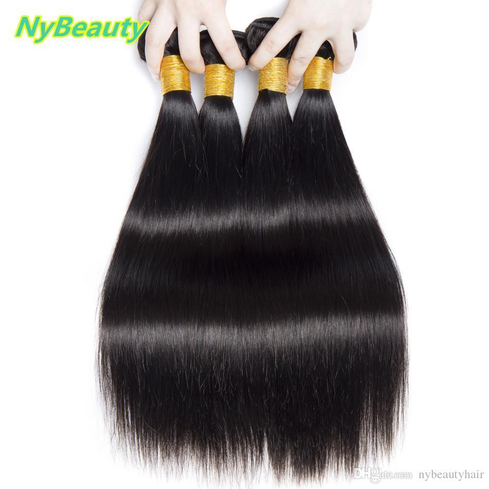 NyBeauty Straight Human Hair wigs 100% Human Hair Bundles Natural Color Remy Cheap Human Hair Wigs for Black Woman