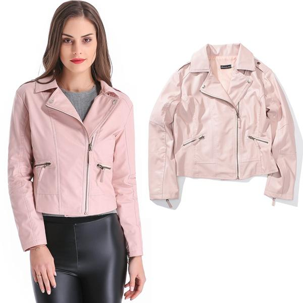 new items many choices of classic fit Grandwish Women PU Leather Jacket Pink Faux Leather Jackets Size XXS 4XL  Womens Leather Bomber Jacket Jackets Women From Affairr, &Price;| DHgate.Com