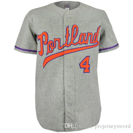 Portland Beavers 1968 Road Jersey 100% brodé broderie Logos Vintage Baseball Jerseys Personnalisé n'importe quel nombre n'importe quel nombre Livraison gratuite