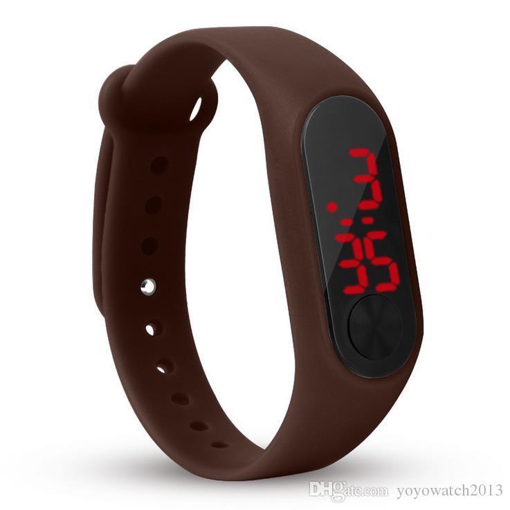 mode jungen mädchen kinder kinder studenten sport digital led uhren neue herren frauen kunststoff band geschenk werbende armbanduhren