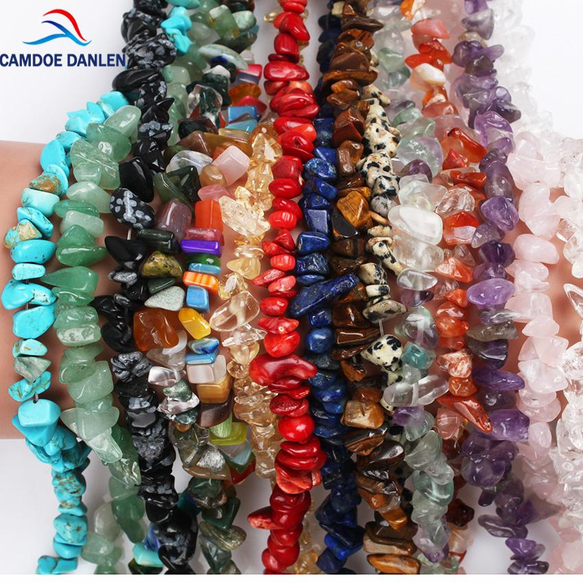 Perline in pietra naturale perline 5-8mm Crystal Tiger Eye Strand 16 pollici LRregular ghiaia fai-da-te braccialetto per fare gioielli