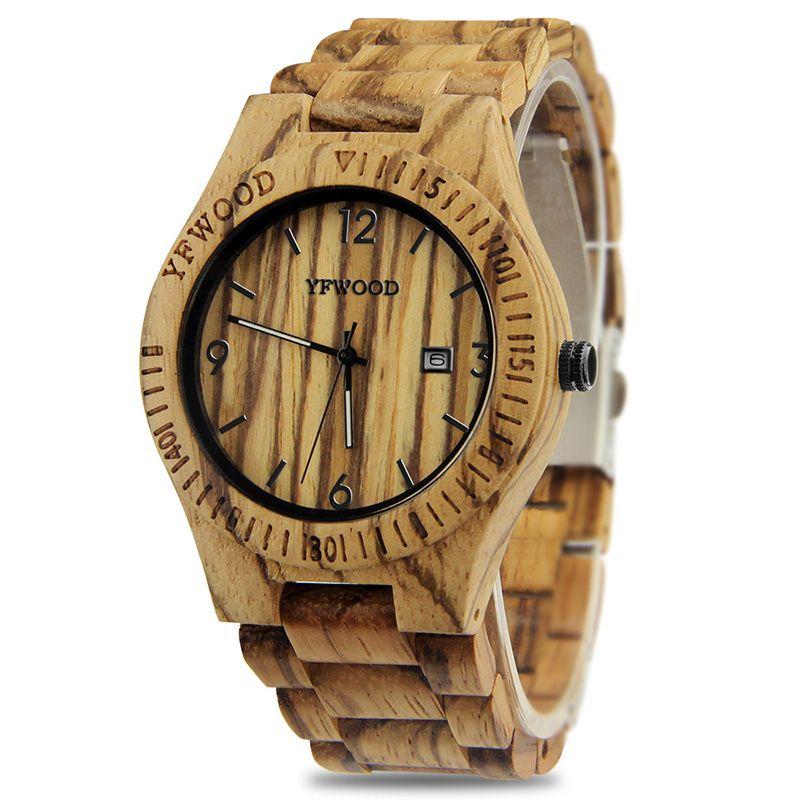 الرجال خشبي الساعات الأعلى أزياء التاريخ الكوارتز مشاهدة الرجال ماء الرياضة ساعة اليد الذكور ساعة مع خشب هدية مربع