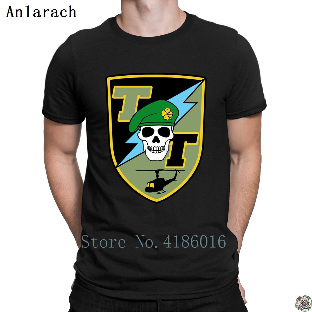 Tropic army patch t-shirt 2018 male Tee top create t shirt for men fun cotton simple Popular Anlarach Letters