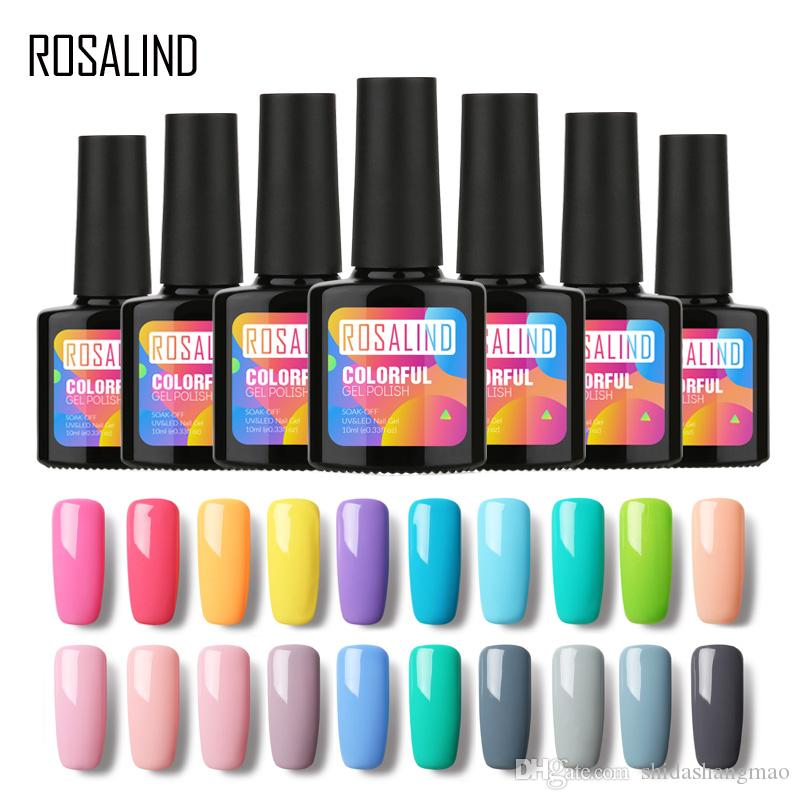 ROSALIND Gel 1 P+Black Bottle 10ML Pure Color 58 Colors 01-30 Gel Nail Polish Nail Art UV LED glitter DIY Painting Gel Lacquer