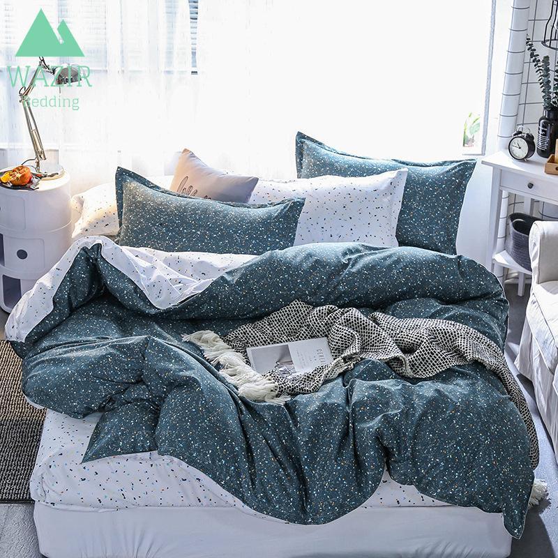 Impression réactive ensemble de literie de luxe 15 tailles 3 / 4pcs literie housse de couette taies d'oreiller drap de lit literie