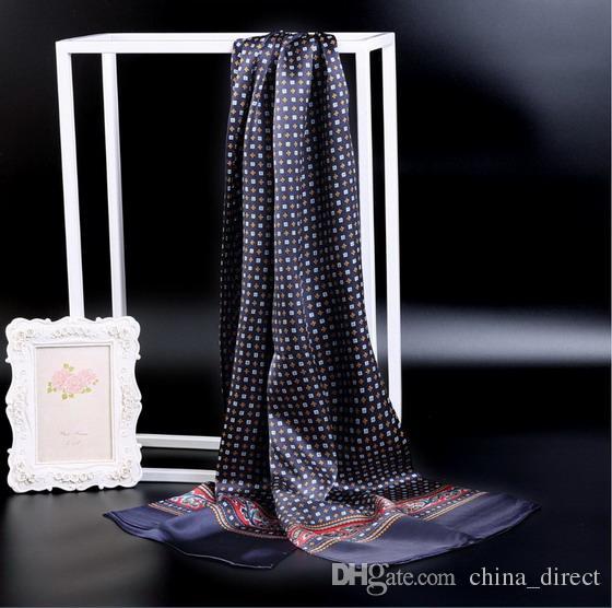 New Vintage Silk Men Cravat Schal Fashion Paisley Check Blumen Muster Print 2 Layer dot Pure Silk Satin Halstücher 60 Farbe # 4056