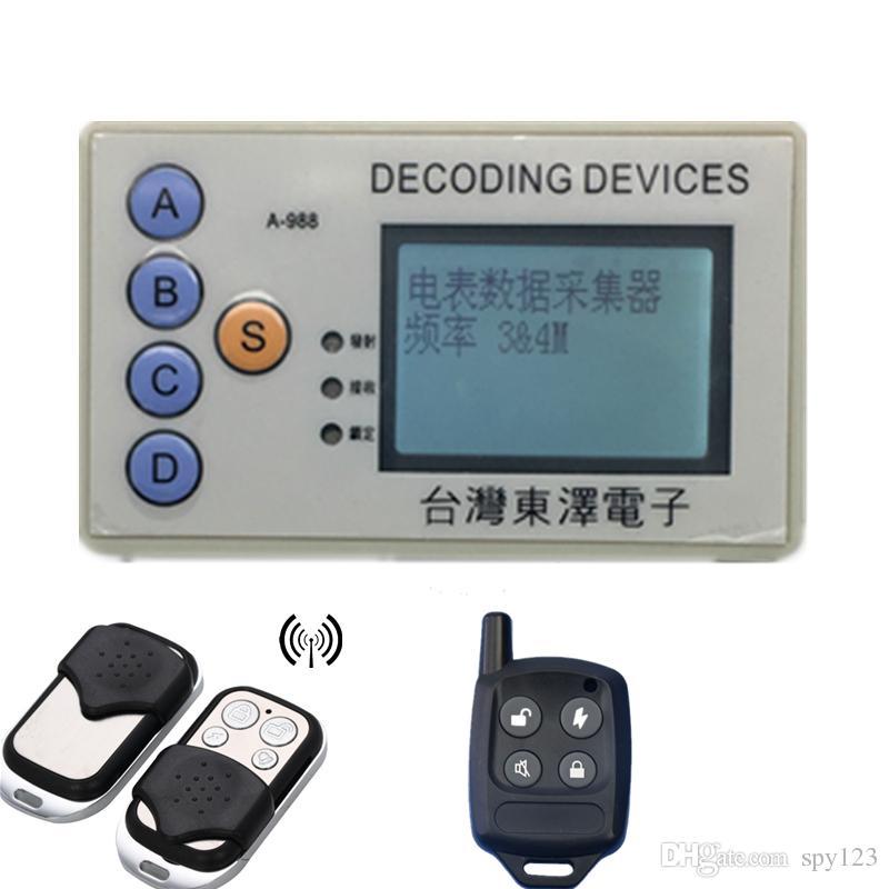 Dispositivi di decorazione RF Scanner di codice di sicurezza wireless RF Grabber 315MHz 330MHz 430MHz 433MHz decodifica molti chipset