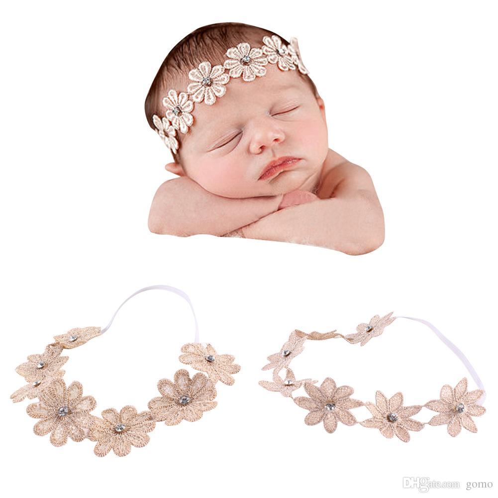 Baby Shower Headband Infant Girls Beautiful Linen Sunflower Headband Stretchable Birthday Party Family Photo Hairband