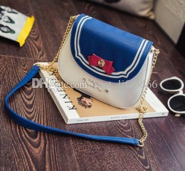 Livre Nova versão coreana da moda colisão cor arco cadeia pequeno saco tendência pequeno fresco doce cor único ombro mensageiro saco